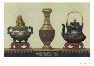 (図4)ジェームス・ロード・ボウズKeramic Art of Japan (London Henry Sotheran & Co., 1881)京焼挿図