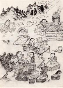 図3_二代真清水蔵六「京都陶器製埴の圖」『古今京窯泥中閑話』(1935)挿図