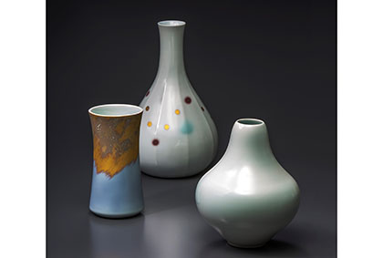 井上路久作陶展  「三代で紡ぐ京焼の形」