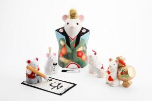ねずみ 干支の京陶人形展